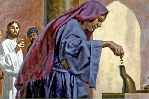 Jesus and the Widow's Offering