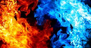 Red And Blue Fire On Balck Backgroundred And Blue Fire On Balck